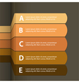 paper infographics vector image vector image