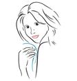 Attractive woman vector image vector image