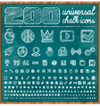 200 Universal Icons in chalk doodle style Set 2 vector image