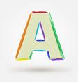 Alphabet letter A Watercolor paint design element vector image