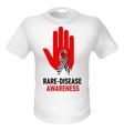 T shirts raredisease awareness vector image