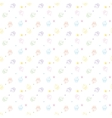 Cakes seamless pattern white colors vector image