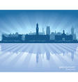 Bradfort England skyline with reflection in water vector image vector image