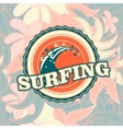 retro California surfing logo for t-shirt or vector image