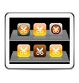 Scissors orange app icons vector image vector image
