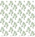Seamless pattern green leaves of sandalwood vector image vector image