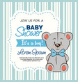 baby shower boy invitation card vector image