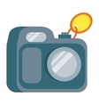 Camera in Flat Design vector image