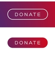 Modern Donate button flat vector image