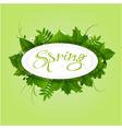 spring badge elipse frame vector image