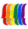 crying human lgbt movement rainbow flag vector image