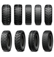 Truck and Tractor Tires vector image