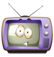Retro television with face vector image