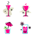 pink retro drinks vector image