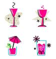 pink retro drinks vector image