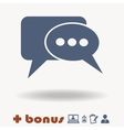 Speech bubbles icon Blue vector image