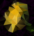 black yellow abstract polygon triangular pattern vector image