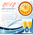 calendar for 2012 december vector image