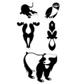 Decor animal silhouettes collection vector image