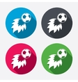 Football fireball sign icon Soccer Sport symbol vector image