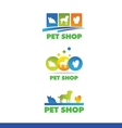 Pet shop logo icon design vector image