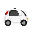 self driving car future icon vector image