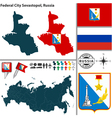 Map of Federal city Sevastopol vector image vector image
