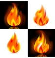 Fire 4 flames vector image vector image