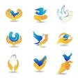 Bird in hands vector image