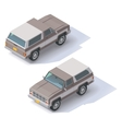 isometric SUV vector image vector image