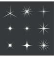 set of sparkle lights vector image