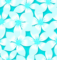 Turquoise tropical Plumeria and Hibiscus floral vector image