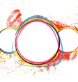 banner design with color grunge background vector image