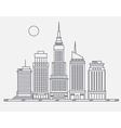 Business center of big city broadway street vector image