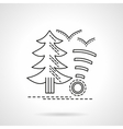 Camping service flat line design icon vector image