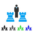 chess strategy flat icon vector image