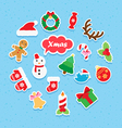 Christmas icon paper set vector image