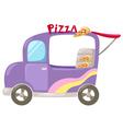 Italian pizza delivery car vector image
