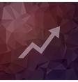 Lightning arrow upward in flat style icon vector image