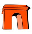 triumphal arch paris icon cartoon vector image