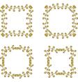 floral branch frames vector image vector image