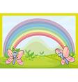 Flies and rainbow vector image vector image