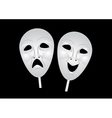 theater masks of drama and comedy vector image