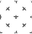 traditional religious totem pole pattern seamless vector image