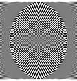 Abstract op art backdrop vector image vector image