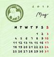may 2015 zodiac vector image