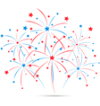 Independence day fireworks vector image