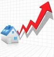 Real estate price rising concept vector image vector image