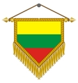 pennant with the flag of lithuania vector image