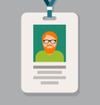 Staff admission badge pass card or identification vector image